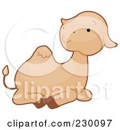 Royalty Free RF Clipart Illustration Of A Baby Camel Resting by BNP Design Studio