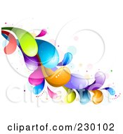 Royalty Free RF Clipart Illustration Of A Colorful Rainbow Splash 3