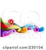 Backgorund Of Flowing Rainbow Waves 1