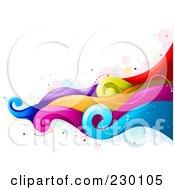 Backgorund Of Flowing Rainbow Waves 2