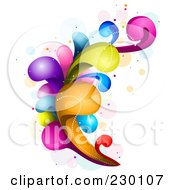 Royalty Free RF Clipart Illustration Of A Colorful Rainbow Splash 2