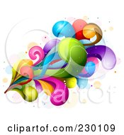 Royalty Free RF Clipart Illustration Of A Colorful Rainbow Splash 1 by BNP Design Studio