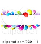 Royalty Free RF Clipart Illustration Of A White Frame Bordered In Rainbow Splashes by BNP Design Studio