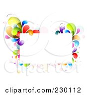 Royalty Free RF Clipart Illustration Of A Rectangular Frame Bordered In Rainbow Splashes