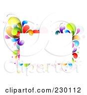 Royalty Free RF Clipart Illustration Of A Rectangular Frame Bordered In Rainbow Splashes