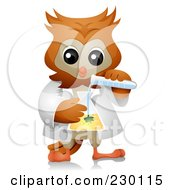 Royalty Free RF Clipart Illustration Of A Professor Science Owl