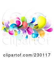 Royalty Free RF Clipart Illustration Of A Colorful Rainbow Splash 4