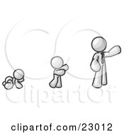Clipart Illustration Of A White Man In His Growth Stages Of Life As A Baby Child And Adult