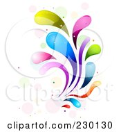 Royalty Free RF Clipart Illustration Of A Colorful Rainbow Splash 9