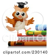 Royalty Free RF Clipart Illustration Of A Professor Walking Up Steps Of Books