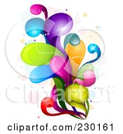 Royalty Free RF Clipart Illustration Of A Colorful Rainbow Splash 8