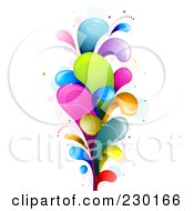 Royalty Free RF Clipart Illustration Of A Colorful Rainbow Splash 5 by BNP Design Studio