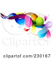 Royalty Free RF Clipart Illustration Of A Colorful Rainbow Splash 7 by BNP Design Studio