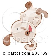 Royalty Free RF Clipart Illustration Of A Cute Puppy Playing Dead