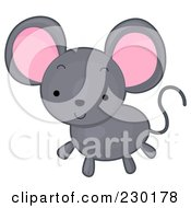Royalty Free RF Clipart Illustration Of A Cute Gray Mouse