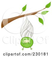 Royalty Free RF Clipart Illustration Of A Happy Bug In A Cocoon by BNP Design Studio