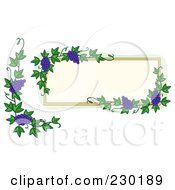 Royalty Free RF Clipart Illustration Of A Digital Collage Of A Grame Frame And Corner Border