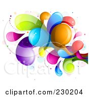 Royalty Free RF Clipart Illustration Of A Colorful Rainbow Splash 6 by BNP Design Studio