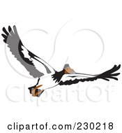 Royalty Free RF Clipart Illustration Of A Flying Goose