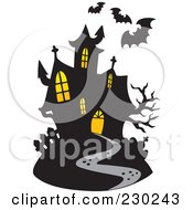 Royalty Free RF Clipart Illustration Of A Haunted Mansion 3