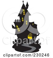 Royalty Free RF Clipart Illustration Of A Haunted Mansion 1