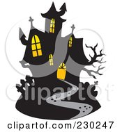 Royalty Free RF Clipart Illustration Of A Haunted Mansion 2