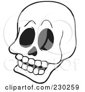 Coloring Page Outline Of A Skull