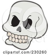 Royalty Free RF Clipart Illustration Of A Skull by visekart