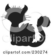 Royalty Free RF Clipart Illustration Of A Black Cat Silhouette