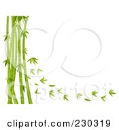Royalty Free RF Clipart Illustration Of A Bamboo Stalks And Leaves Background by BNP Design Studio