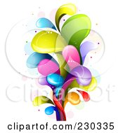 Royalty Free RF Clipart Illustration Of A Colorful Rainbow Splash 12 by BNP Design Studio