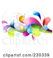 Royalty Free RF Clipart Illustration Of A Colorful Rainbow Splash 10 by BNP Design Studio