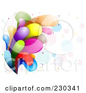 Royalty Free RF Clipart Illustration Of A Colorful Rainbow Splash 13 by BNP Design Studio