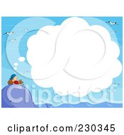 Royalty Free RF Clipart Illustration Of A Pirate Dreaming On A Whales Head by BNP Design Studio