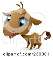 Royalty Free RF Clipart Illustration Of A Baby Camel With Blue Eyes by BNP Design Studio