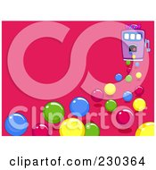 Royalty Free RF Clipart Illustration Of A Bubble Gum Machine On Pink