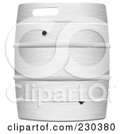 Royalty Free RF Clipart Illustration Of A Metal Beer Keg Barrel by michaeltravers