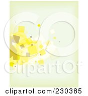 Abstract Background Of Beige And Yellow Particles On Blue