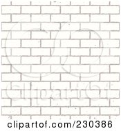 Royalty Free RF Clipart Illustration Of A Seamless Background Of A White Brick Wall by michaeltravers #COLLC230386-0111