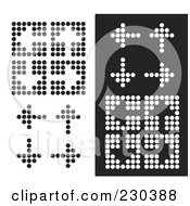 Royalty Free RF Clipart Illustration Of A Digital Collage Of Dot Arrows