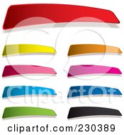 Royalty Free RF Clipart Illustration Of A Digital Collage Of Colorful Blank Tag Labels by michaeltravers