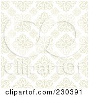 Royalty Free RF Clipart Illustration Of A Floral Tile Wallpaper Background