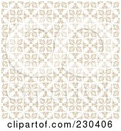 Royalty Free RF Clipart Illustration Of A Background Of Floral Squares On Beige