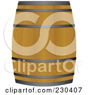 Royalty Free RF Clipart Illustration Of A Wooden Beer Keg Barrel by michaeltravers