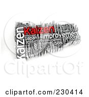 Royalty Free RF Clipart Illustration Of A 3d Kaizen Word Collage by MacX