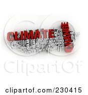 Royalty Free RF Clipart Illustration Of A 3d Climate Change Word Collage by MacX