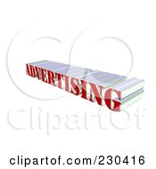 Royalty Free RF Clipart Illustration Of A 3d Red And Silver ADVERTISING Word
