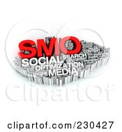 Royalty Free RF Clipart Illustration Of A 3d SMO Word Collage by MacX