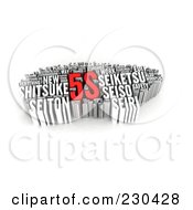 Royalty Free RF Clipart Illustration Of A 3d 5s Word Collage