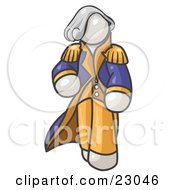 Clipart Illustration Of A White George Washington Character by Leo Blanchette